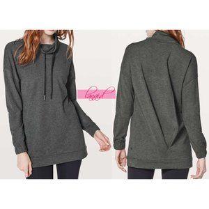 Lulu Twisted & Tucked Sweatshirt Tunic High-Neck 4